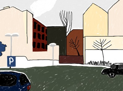 The fisrt snow in Berlin