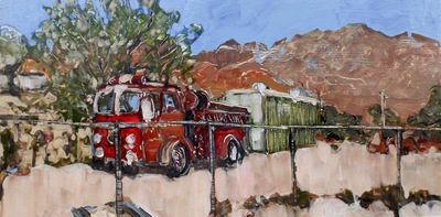 Firetruck, Beatty Historical Museum, Beatty, NV, USA