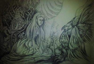 in the secret garden- the magic  bird