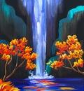 Pinterest Autumn Aloha Easy step by step waterfall acrylic