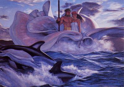 Sea man and woman