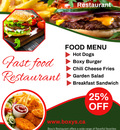 Nearest fast foodBoxy's restaurant