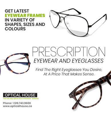 Buy The Best Prescription Eyeglasses in Waterloo