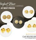 Buy Now Perfect Pair of Gold Earrings in Brampton