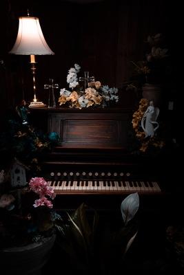 Piano Dark Background
